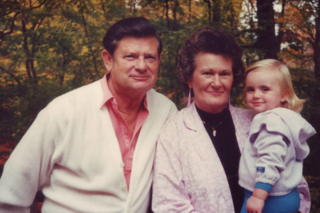 Grandmother and Granddaddy with Hannah Age 3
