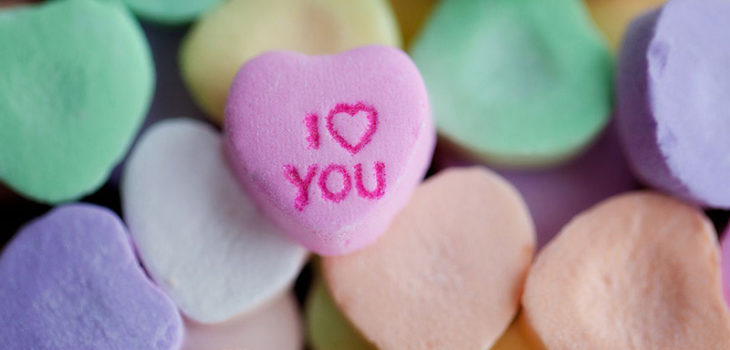 I love you candy hearts